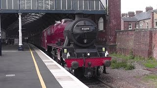 LMS Stanier 'Jubilee' 45699 'Galatea' - 'The Hadrian' at Darlington - 16/05/2015