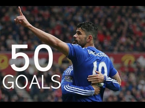 Diego Costa - First 50 Goals For Chelsea FC - HD