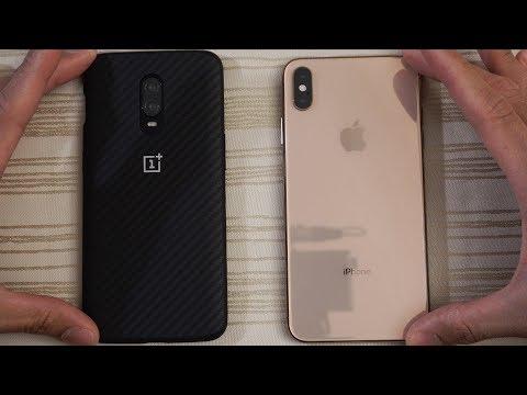OnePlus 6T vs iPhone XS Max - Speed Test!