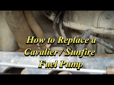 how to change the fuel pump on a chevy cavalier or pontiac sunfire 2004 Cavalier Fuel Filter Location