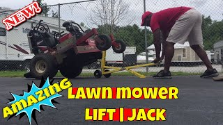 Jungle Jim's jack. Best lawn mower lift- jack for the money/ Portable, light weight and efficient