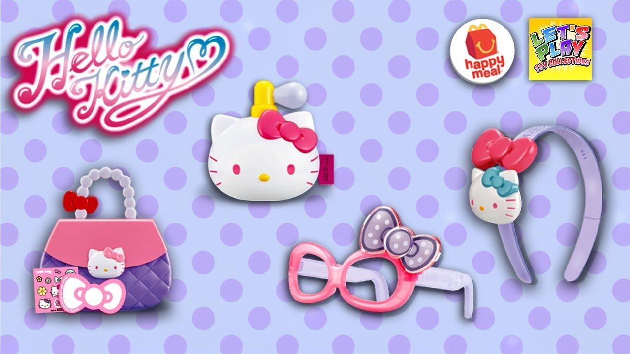 Hello Kitty Happy Meal Toys : Hello kitty mcdonald s happy meal toy set youtube