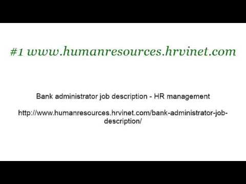Bank Treasurer Job Description - YouTube - treasurer job description