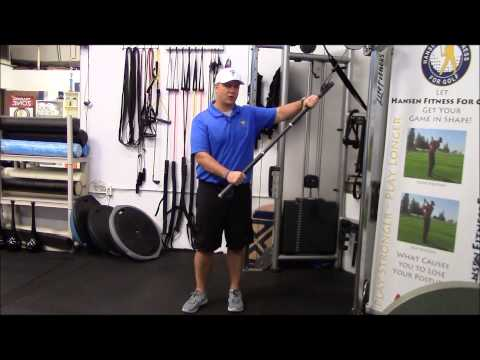 Golf Specific Exercises using the Cable Cross Machine