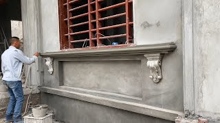 Techniques Construction And Decorative Windows Foot With Sand & Cement You Must See