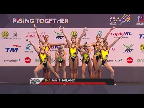 Team Thailand -  Synchronized Swimming Teams Free Routine   Sea Games 2017