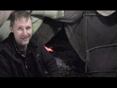 Winter Survival Shelter - 75 Degrees Inside - Overnight Stay!!!