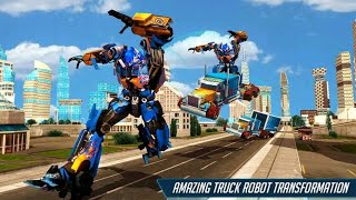 Grand Police Truck Robot War Transform Robot Games screenshot 3