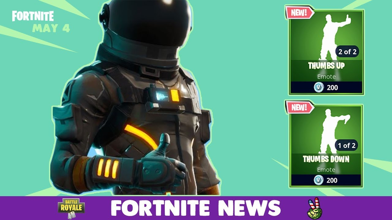 fortnite item shop may 4 new thumbs down thumbs up emotes - thumbs up fortnite emote