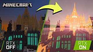 Minecraft with RTX | Build Challenge #1 Time Lapse