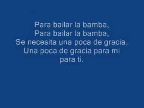 Los Lobos La Bamba w Lyrics