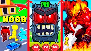 Shape-shifting, snake master 3d, monster evolution run, red ball 4 and park master android gameplay. screenshot 3