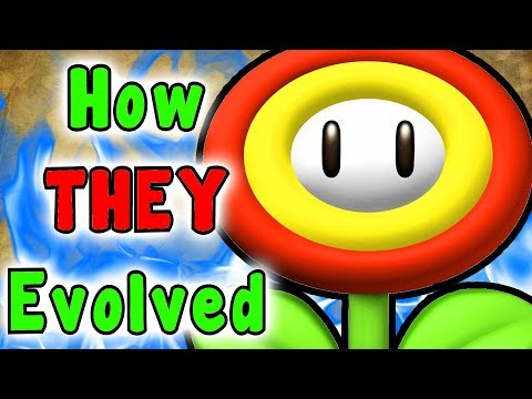 Super Mario -  Evolution Of The FIRE, ICE, CLOUD, BOOMERANG And GOLD Flower (Power Ups)