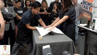 Live Gyotaku Art   16 Year Celebration Sushi School Institute