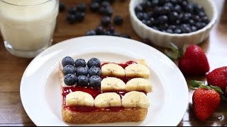 July 4th Recipes - How To Make Flag Toast