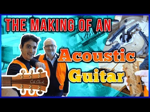 The Making of an Acoustic Guitar in 100 Seconds
