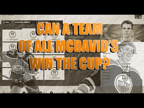 NHL 17 Can A Team of ALL Connor McDavids Win the CUP?