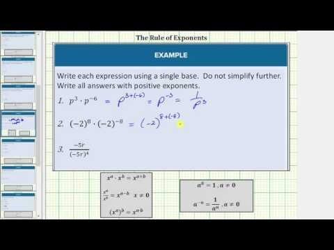 Rules of Exponents (solutions, examples, songs, videos)