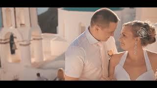 Нежно-розовая свадьба Сергея и Юлии в Греции на о.Санторини