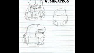 How to Draw G1 Megatron (The head pt 1)