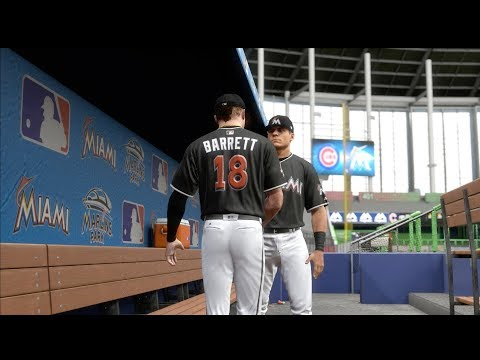MY MLB PITCHING DEBUT FOR THE MIAMI MARLINS! MLB THE SHOW 17