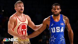Kyle Dake SHOCKS Jordan Burroughs at Olympic wrestling trials | NBC Sports