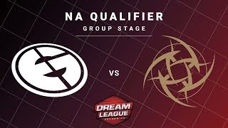 Evil Geniuses vs Ninjas in Pyjamas Game 2 - DreamLeague S13 NA Qualifiers: Group Stage