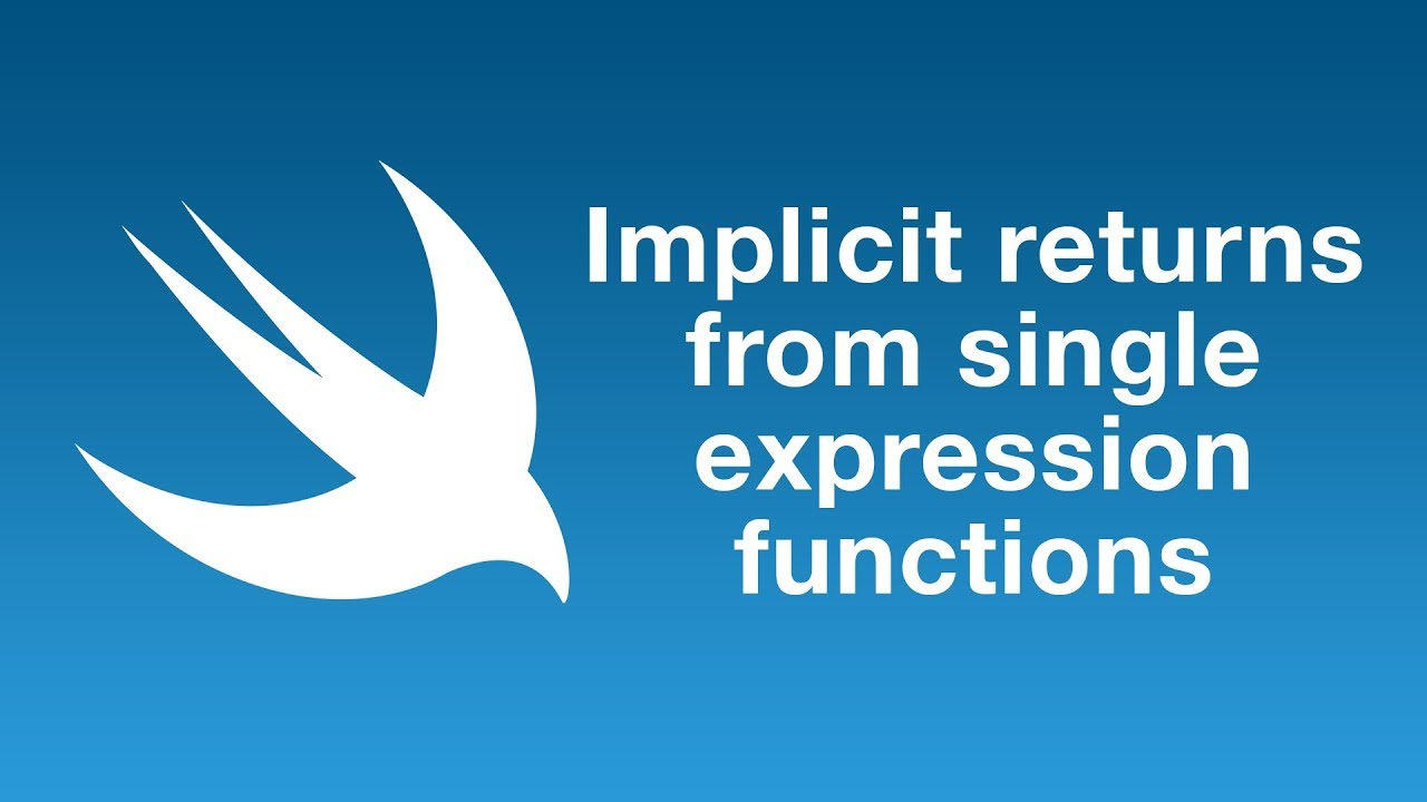 Implicit returns from single-expression functions in Swift 5.1