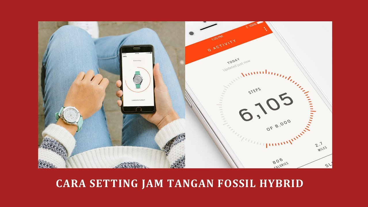 Inilah Cara Setting Jam Tangan Fossil Q Hybrid Smartwatch Youtube Set