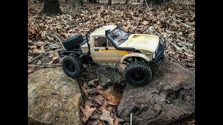 First Outside Run of the WPL 16th Scale Hilux RC Crawler