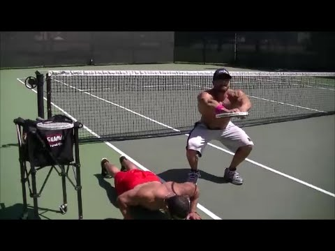 Marc Lobliner Learns How to Play Tennis with Sean Torbati and TennisAesthetics - TheTigerFitness  - EkwMAdf95yI -