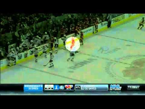 NHL: Olli Jokinen Cross Check on Woitek Wolski Suspended 3 Games