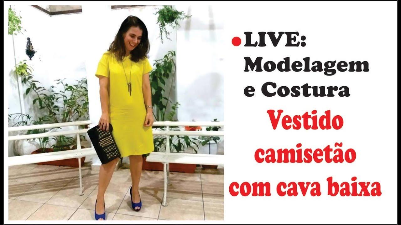 Live Vestido Camisetão Em Viscose Super Facil Para Iniciantes