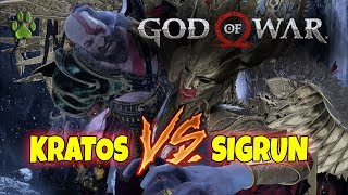 KRATOS VS LA REINA VALKIRIA (SIGRUN) - GOD OF WAR - MAXIMA DIFICULTAD!!!