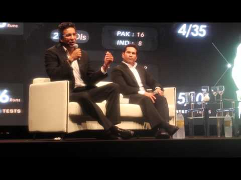 Wasim Akram and Sachin Tendulkar in Dubai