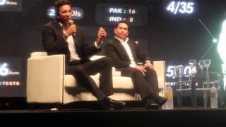 Wasim Akram and Sachin Tendulkar in Dubai