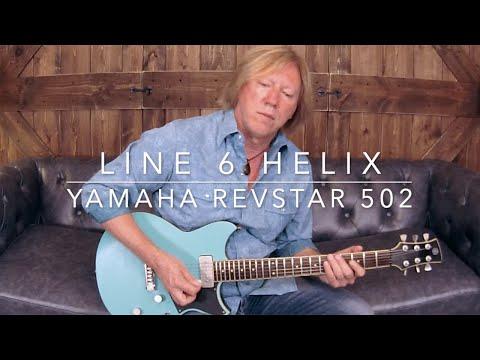 Line 6 Helix - Yamaha Revstar 502 - C Blues Scale Jam