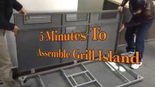5 Minutes Quick Assemble Bbq Grill Island   Www.builddirect.com