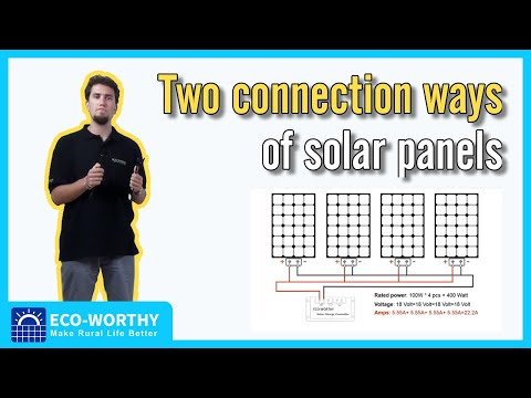 Series vs Parallel -Two connection ways of solar panels