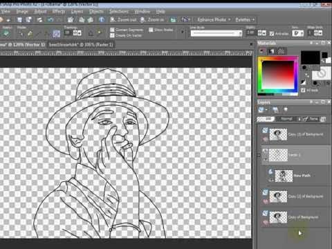 Paint Shop Pro Tutorial How To Turn A Photo To Line Art