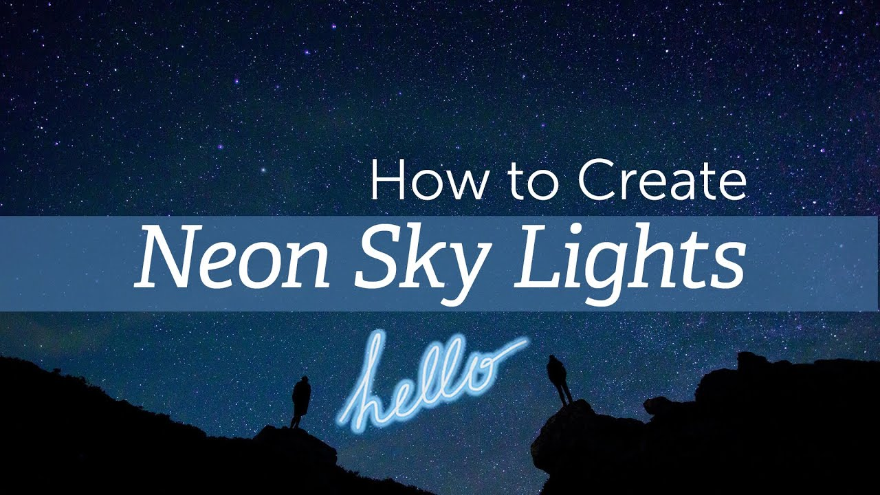 How to Draw Neon Sky Lights With PicsArt
