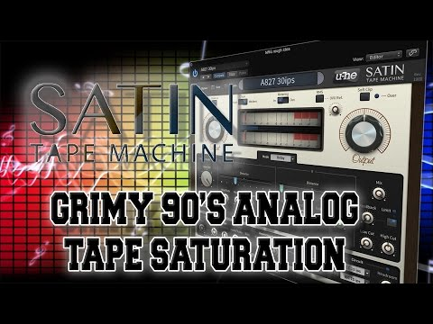 U-He Satin For Grimy 90's Analog Tape Saturation