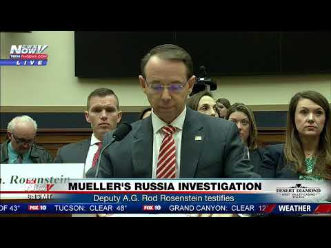 FNN: Deputy Attorney General Rod Rosenstein testifies on Mueller's Russia influence investigation