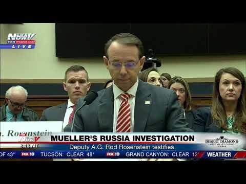 Download Youtube: FNN: Deputy Attorney General Rod Rosenstein testifies on Mueller's Russia influence investigation