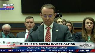 FNN: Deputy Attorney General Rod Rosenstein testifies on Mueller