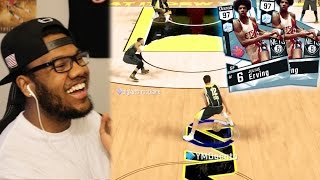Nba 2k17 myteam - diamond 97 dr j 500k debut! nasty ankle breaker on steph curry!