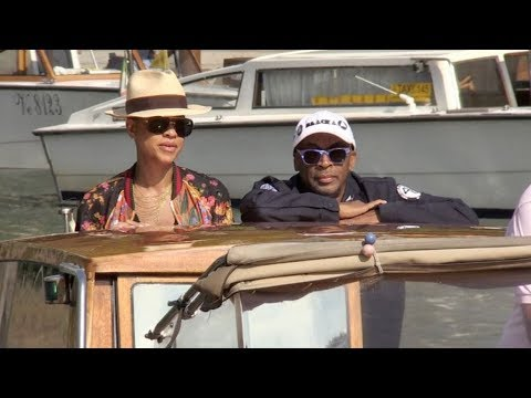 Director Spike Lee and his wife arrive in Venice for the Film Festival 2018