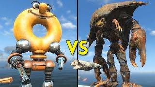 Fallout 4 - 55 DONUTS vs 4 MIRELURK EMPERORS - Battles #71