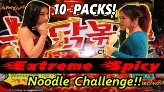 Extreme Spicy Korean Ramen Noodle Challenge (Nuclear and Super Spicy Mukbang Style)!