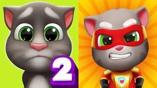My Talking Tom 2 vs Talking Tom Hero Dash Android Gameplay #5